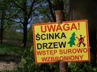 oznaczenie robót w parku
