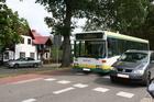 Szlak rowerowy w Małych Swornegaciach; tu także jako chodnik i przystanek autobusowy