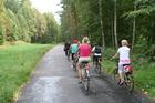Trasa od Chocińskiego Młyna do Kopernicy jest najprzyjemniejsza i najwygodniejsza dla rowerzystów