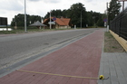 Małe Swornegacie; szlak Kaszubska Marszruta nie jest ścieżką rowerową...